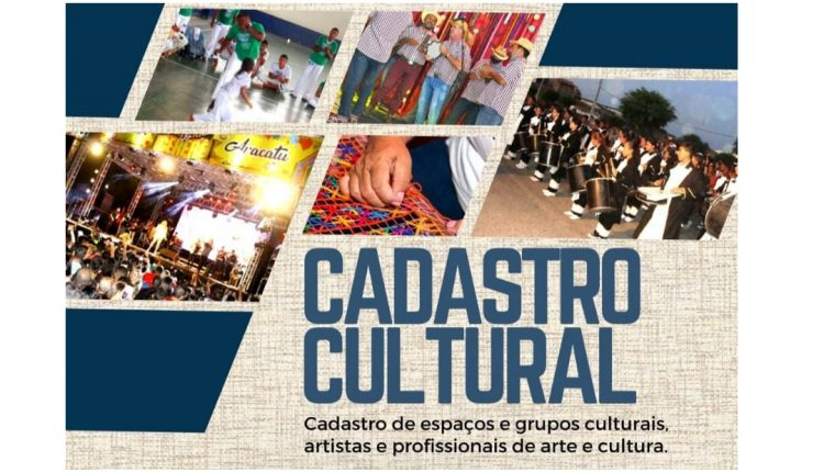 PREFEITURA DE ARACATU ABRIRÁ O CADASTRO PARA MAPEAMENTO ARTÍSTICO-CULTURAL