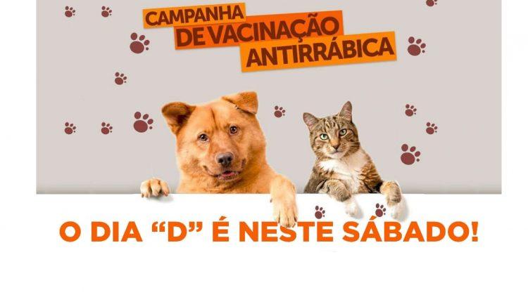 """SÁBADO (18) É O DIA """"D"""" DA VACINAÇÃO ANTIRRÁBICA"""