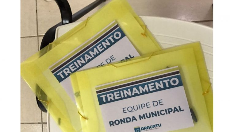 EQUIPE DE RONDA MUNICIPAL RECEBE TREINAMENTO